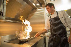 Yacht Chef Prepares Cuisine
