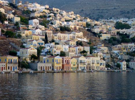 Symi Harbor on Symi Island, Greece njcharters.com
