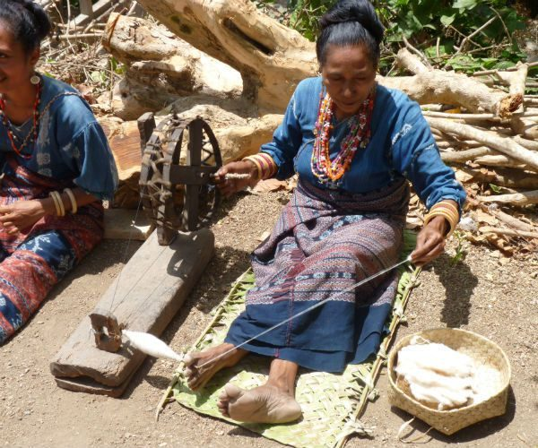 Ikat-Textile-Weaving-hand-spinning-cotton-www.njcharters.com