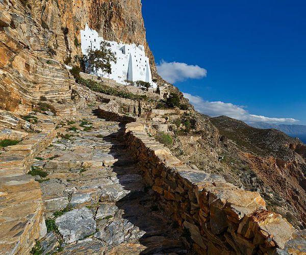 Monastery Amorgos Island Cycladic Island Greece