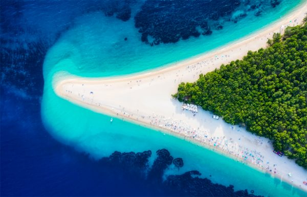 Beach of Zlatni Rat (Golden Horn) Croatia njcharters.com