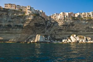 Bonifacio Viewed from the Sea Corsica France njcharters.com