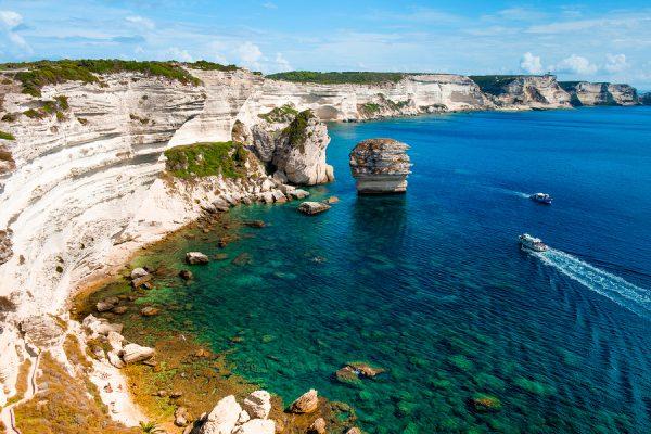 Chalk Cliffs of Bonifacio Corsica France njcharters.com