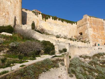 Entrance to Bonifacio Old Town Corsica France njcharters.com