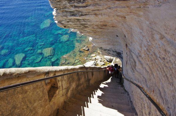 King Aragon Steps Bonifacio Corsica France njcharters.com
