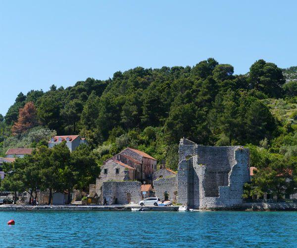 Ruins on Polace Mljet Croatia njcharters.com