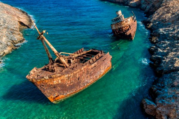 Amorgos Island Shipwreck Beach Greece njcharters.com