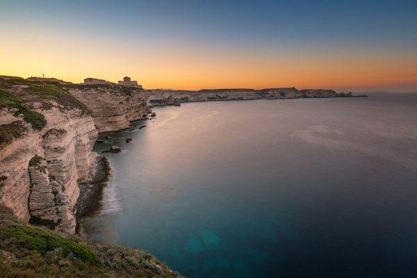 Sunrise over Bonifacio Citadel Corsica France njcharters.com