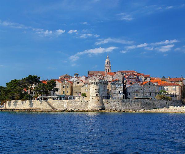 View of Korcula Old Town Croatia njcharters.com