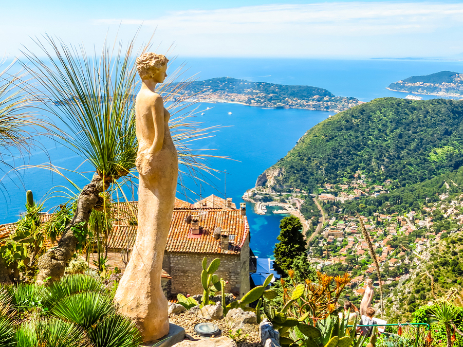 View from The Exotic Garden Eze French Riviera njcharters.com