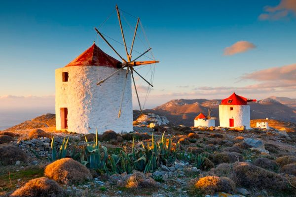 Windmills of Amorgos Island Greece njcharters.com