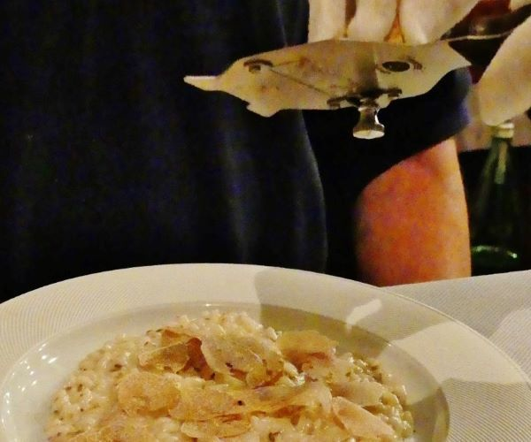 Croatia Istria Fresh White Truffle Being Shaved Over Risotto