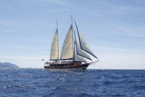 Sailing in Bay of Kotor