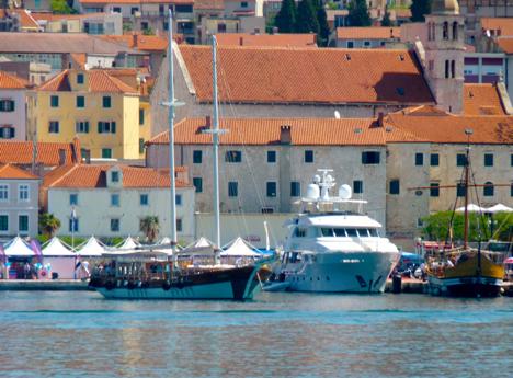 Sibenik Harbor Quay Croatia