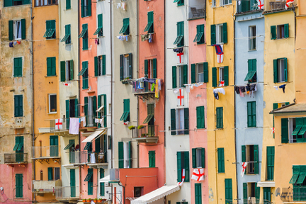 Facades of Portovenere Italy njcharters.com