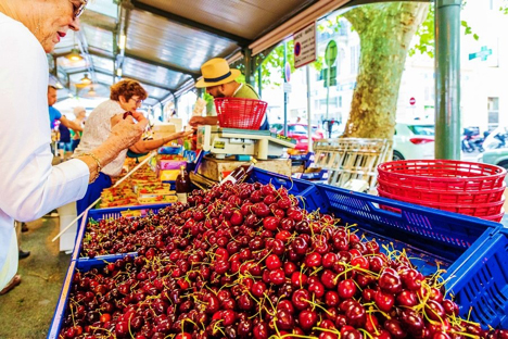 Forville Market Cannes France njcharters.com