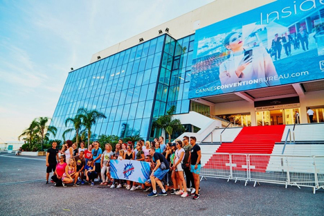 Front of the Palais des Festivals and Red Carpet Cannes France njcharters.com