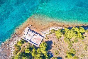 Ruins of a House on a Kornati Archipelago Island Croatia njcharters.com