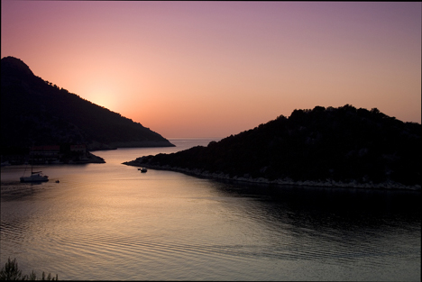Sunset over the Lastovo Archipelago Croatia njcharters.com