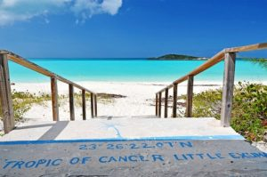 Tropic of Cancer Beach and Meridian Line Marker LIttle Exuma