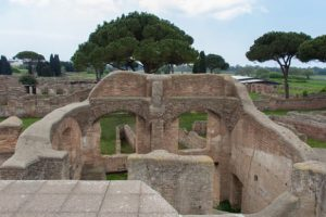Ancient Roman Ruins in Ostia