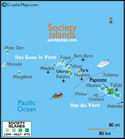Society Islands worldatlas.com