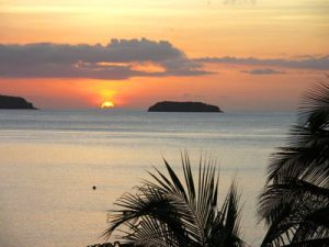 Sunset in the French West Indies