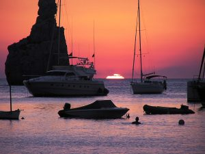 Sunset, Ibiza, Balearic Islands. Spain