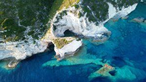 Antipaxos Chalk Cliffs Greece njcharters.com
