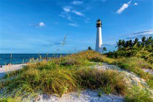 Key Biscayne Lighthouse Florida yacht charter njcharters.com