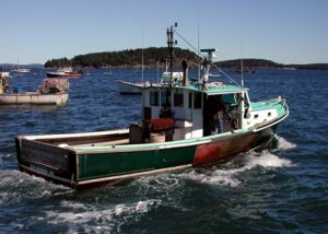 Lobster Fishing Boat Down East Maine