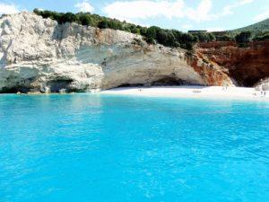 Maganisi Island Beach Greece njcharters.com