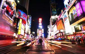 Manhattan Skyline at Night NY