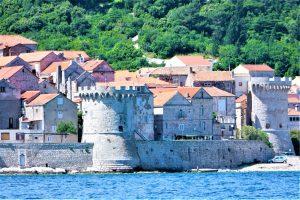 Croatia Korcula Island Old Town Fortress Walls
