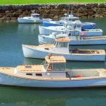 Lobster Boats In New England