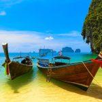 Thailand Beach and Vernacular Local boats, Asia