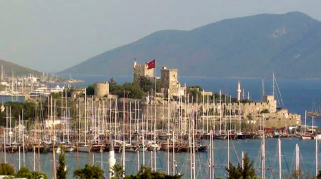 Bodrum Castle and Harbor Turkey yacht charter njcharters.com