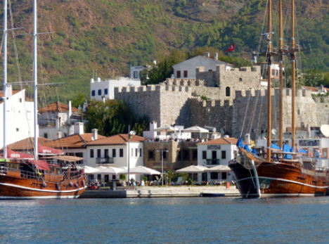 Marmaris Harbor and Castle Turkey yacht charter njcharters.com