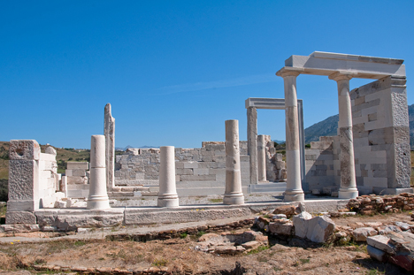 Naxos Ruins of Temple of Demeter Greece njcharters.com