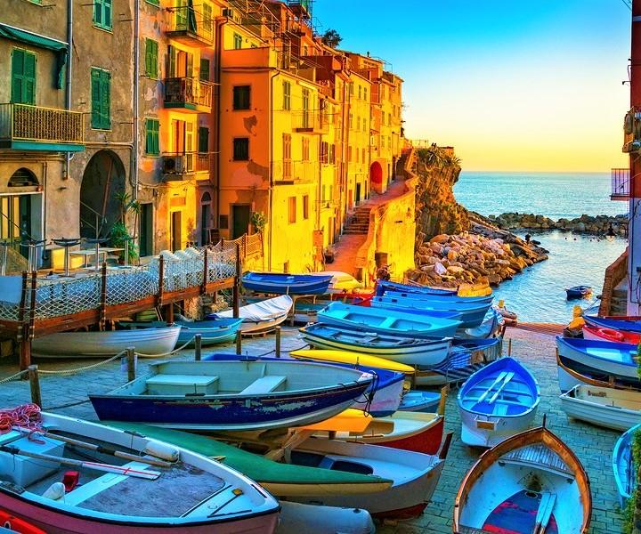Cinque Terre Sunset, Italy