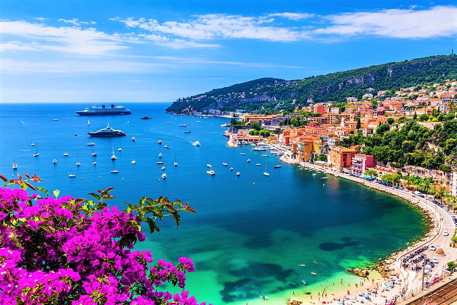 Villefranche sur Mer, France. Seaside town on the French Riviera (or Cote d'Azur).