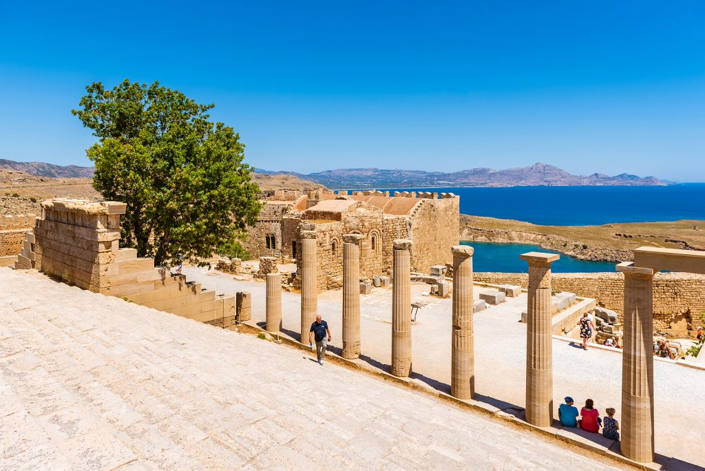 Famous Acropolis of Lindos town Rhodes, Greece