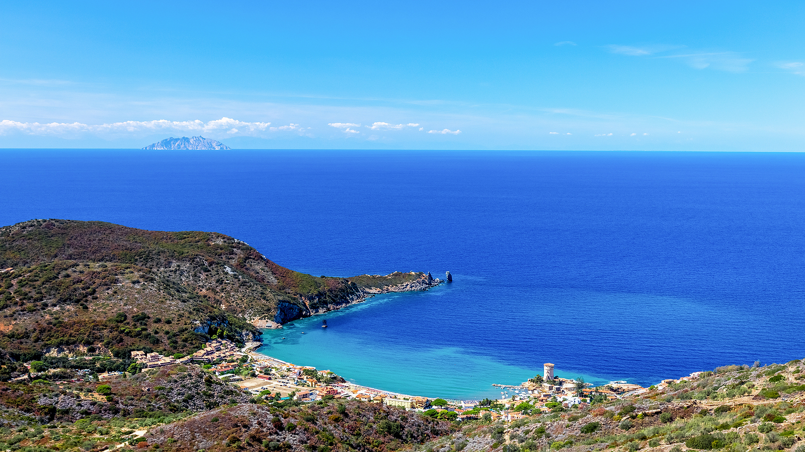 Giglio Island, Tuscany Beautiful Seascape and Beach www.njcharters.com