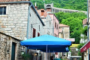 Ston Village with Fortress Wall njcharters.com