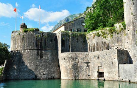 Croatia Montenegro Kotor Fortress Walls and-Flags www.njcharters.com
