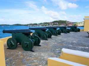Cannons Fort Christainsvaern St Croix USVI njcharters.com