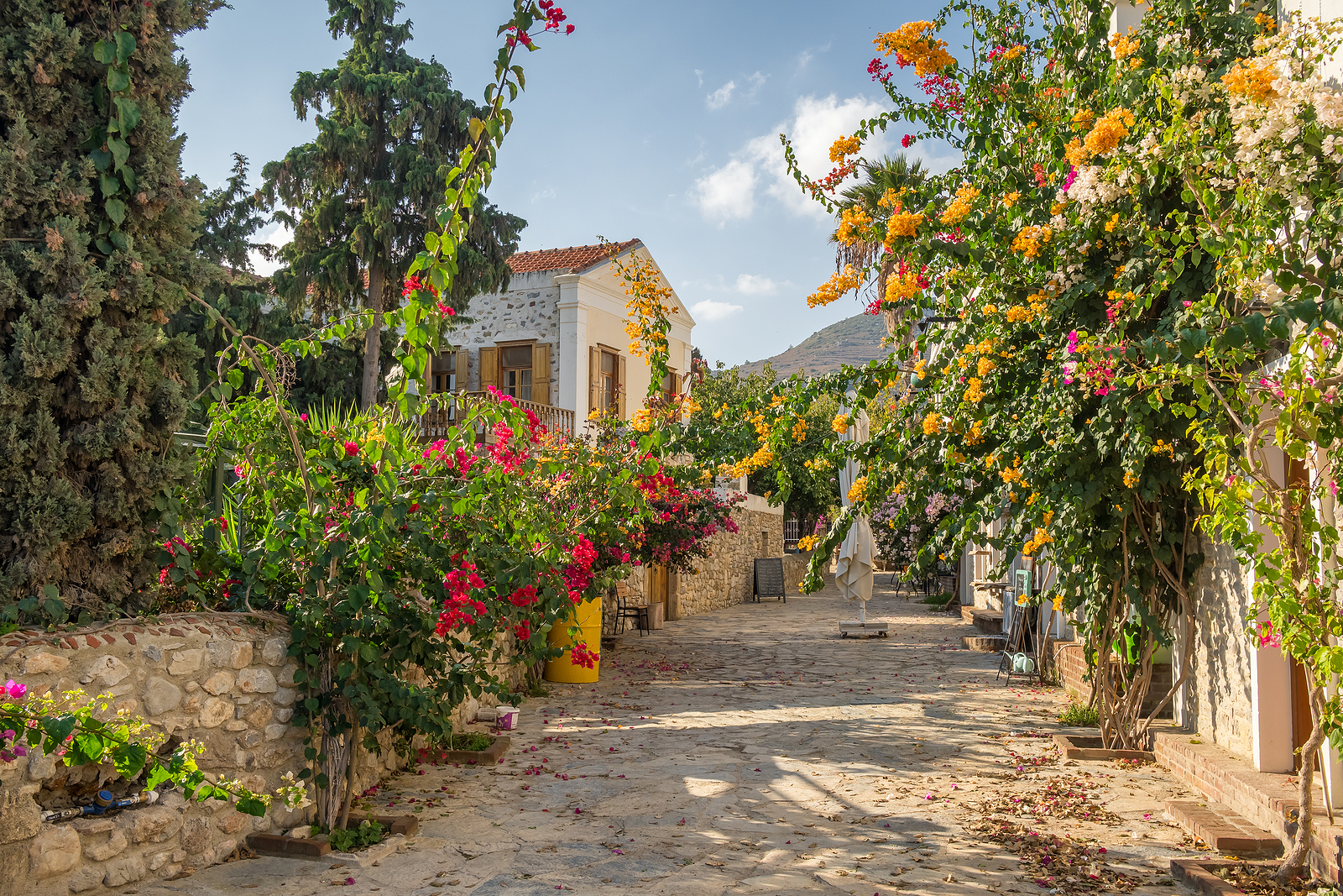 Colorful streets of Old Datca, Turkey
