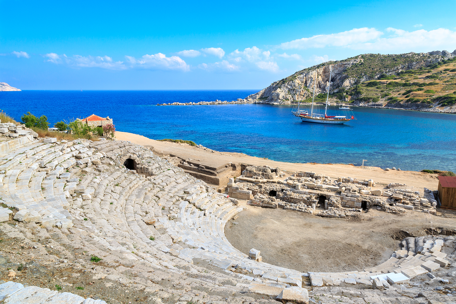 Amphitheater of Knidos in Datca, Turkey